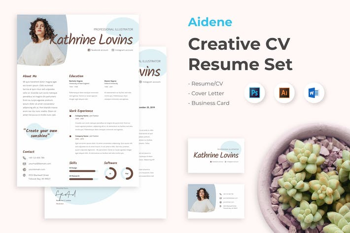 Cover Image For CV Resume Professional