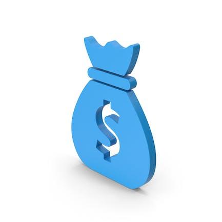 Symbol Money Bag Blue