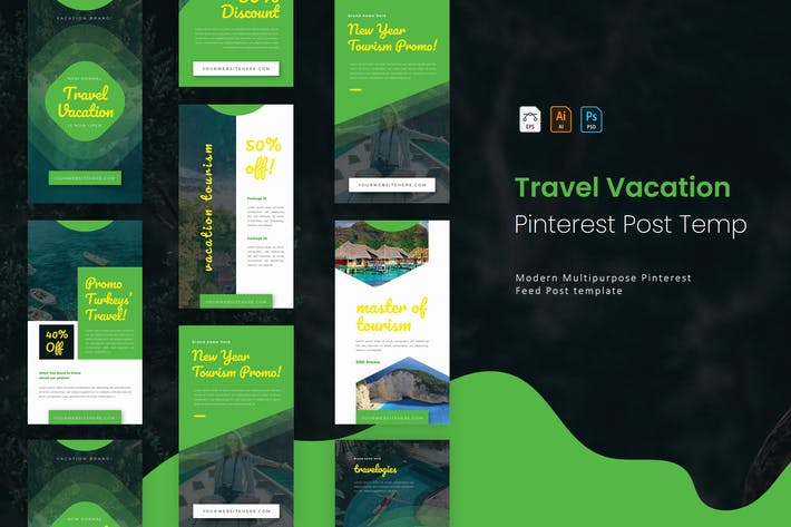 Thumbnail for Travel Vacation | Pinterest Cover