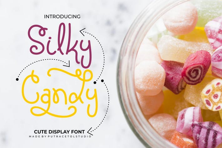 Thumbnail for Silky Candy - Cute Sweet Font