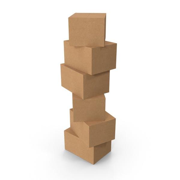Стопка картонных коробок
