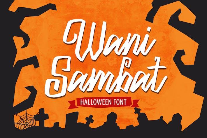 Thumbnail for Wani Sambat - Halloween Font