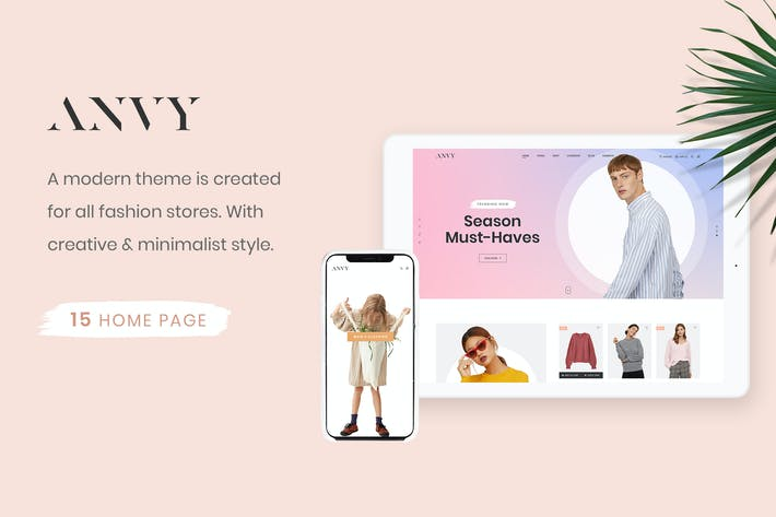 Thumbnail for Anvy - Clean, Minimal Shop PSD Template