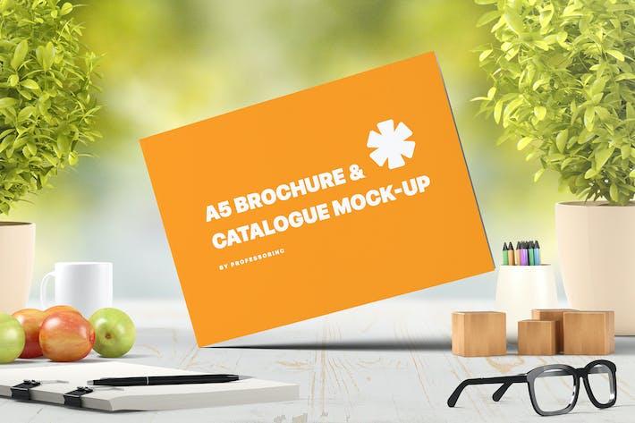 Thumbnail for A5 Landscape Catalogue / Brochure Mock-Up