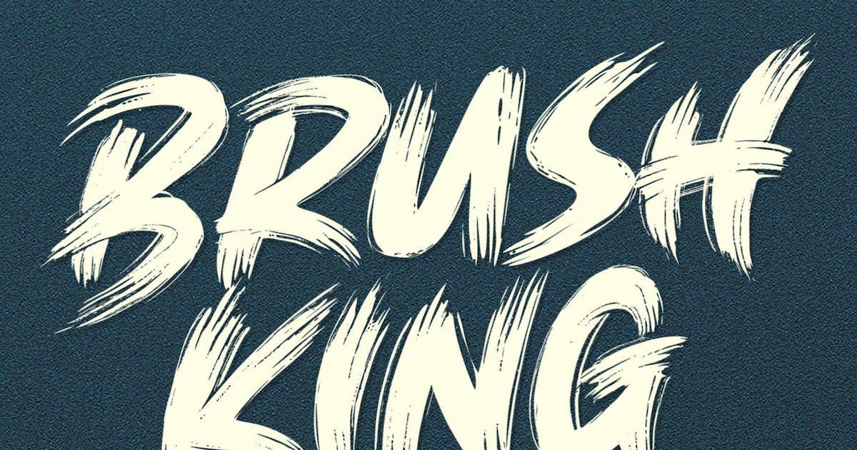 Download Brush King - Brush Font by Subectype