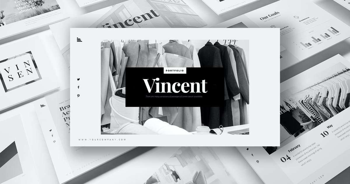 Download Vincent Keynote Templates by StockShape