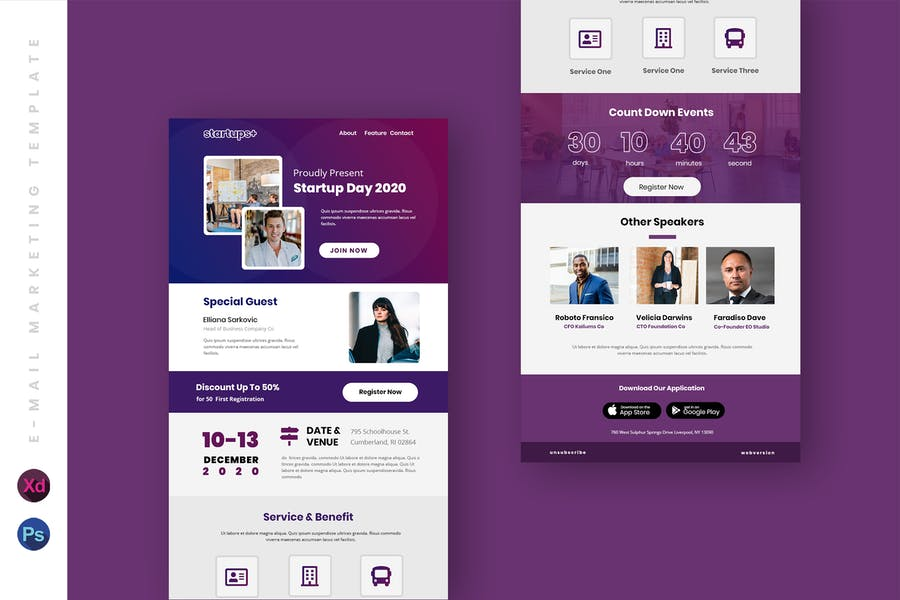 Business Email Newsletter UI Template