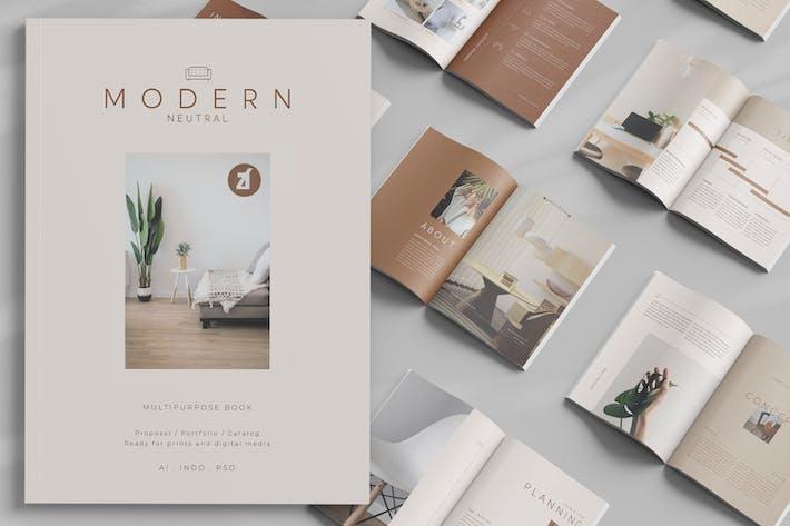 Thumbnail for Modern neutral multi-purpose book