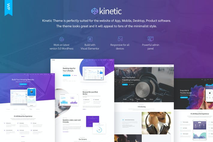 Thumbnail for Kinetic - Desktop, Mobile & Product App WordPress