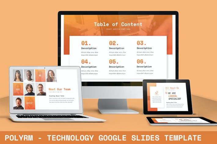 Thumbnail for Polyrm - Technology Google Slides Template