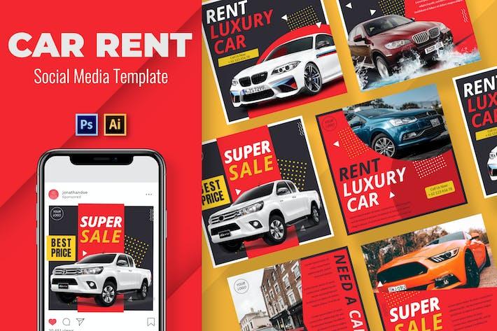 Thumbnail for Car Rent Social Media Template