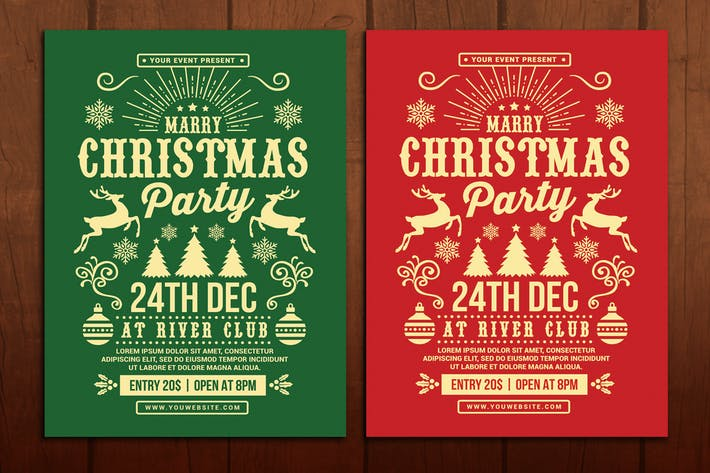 Cover Image For Christmas Party Flyer