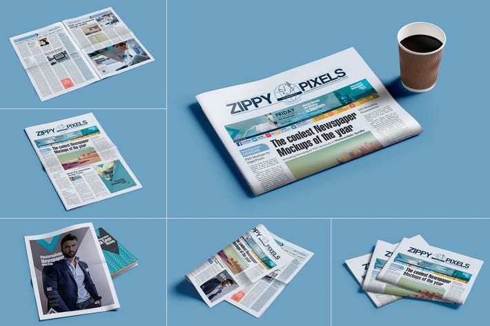 Professional Newspaper PSD Mockups