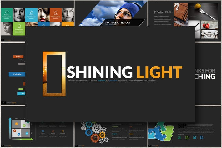 Thumbnail for SHINING LIGHT Powerpoint