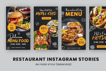 Menu Food Banners Ad Instagram Stories