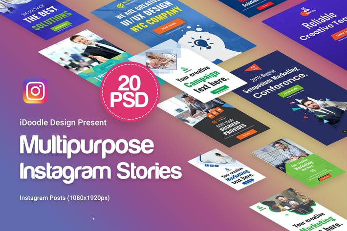 Thumbnail for Creative Multipurpose Instagram Stories - 20PSD