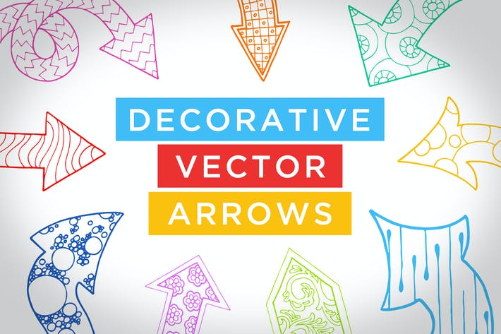 Cover Image For Decorative Vector Arrows Volume 1