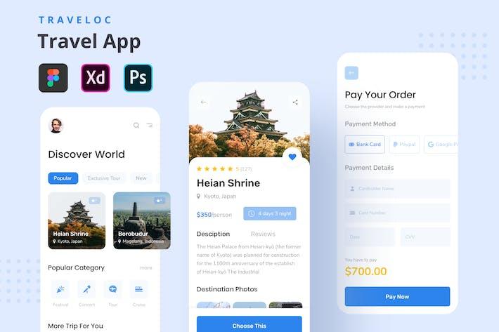 Thumbnail for TraveLoc - Travel App Templates