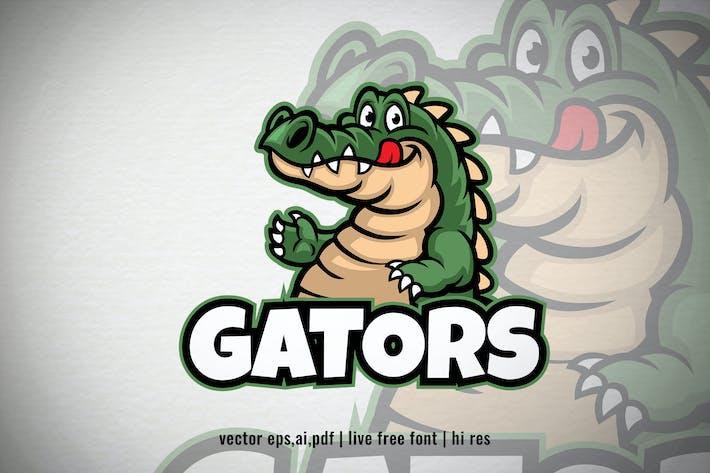 Thumbnail for Happy Cartoon Alligator Logo