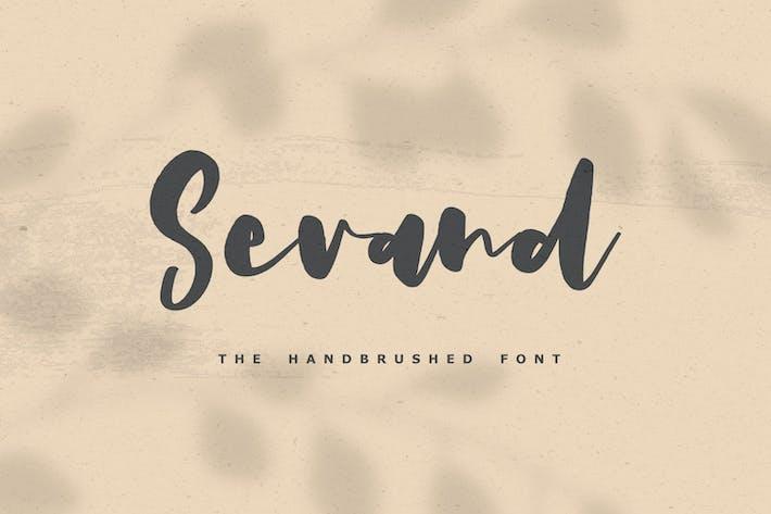 Thumbnail for Sevand - The Handbrushed Font