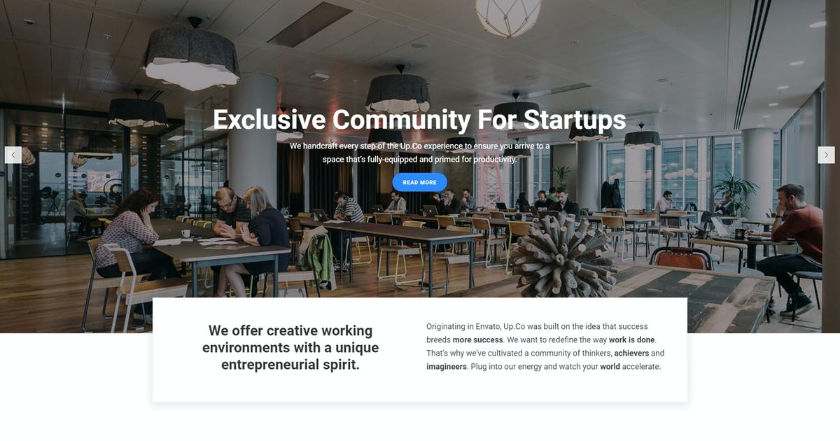 Download Up.Co - Creative Office Space & Business Drupal by gavias