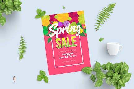 Frühlings-Poster mit Blumenoberseite, Hellrosa