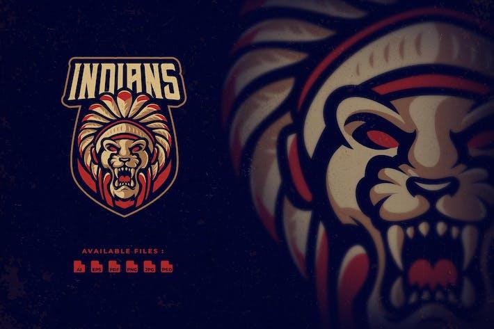 Indian Lion Mascot Logo