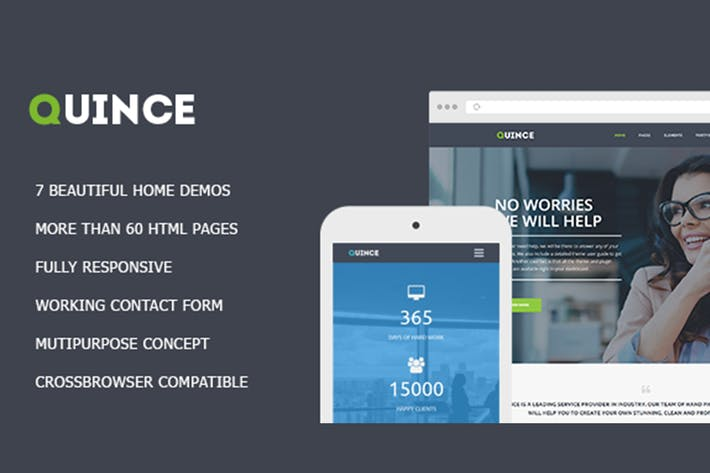 Thumbnail for Quince - Modern HTML Business Template