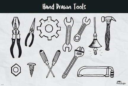 Handgezeichnete Werkzeuge