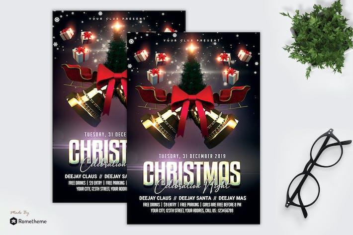 Thumbnail for Christmas Celebration Night Flyer MR