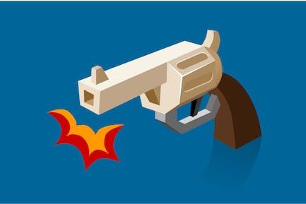 Стрельба револьвер Бам