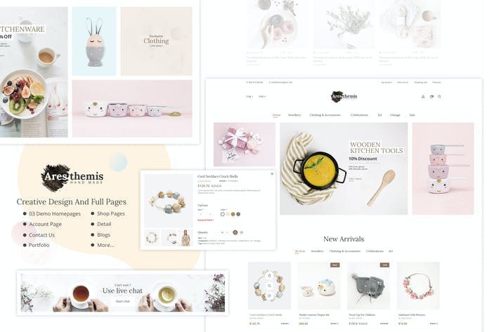 Thumbnail for Ares Themis - Ecommerce PSD Template