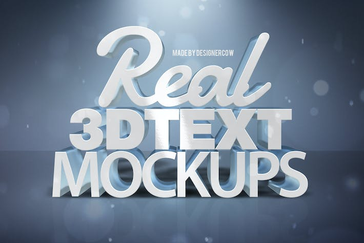Thumbnail for Real 3D text Mockups V1