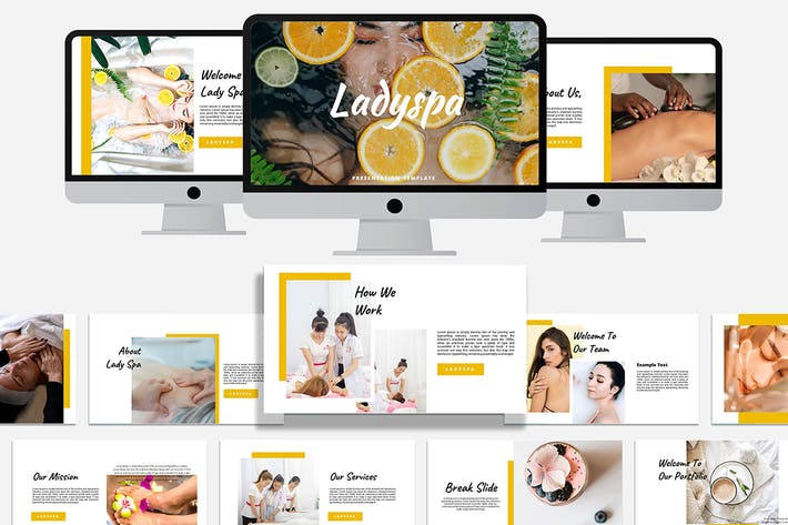 Thumbnail for Ladyspa - Шаблон Powerpoint
