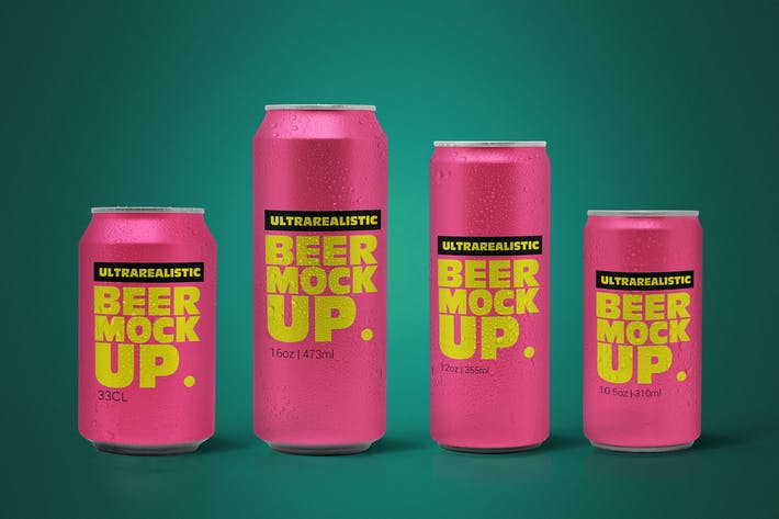 Thumbnail for Clean Beer Can Pack Mockup