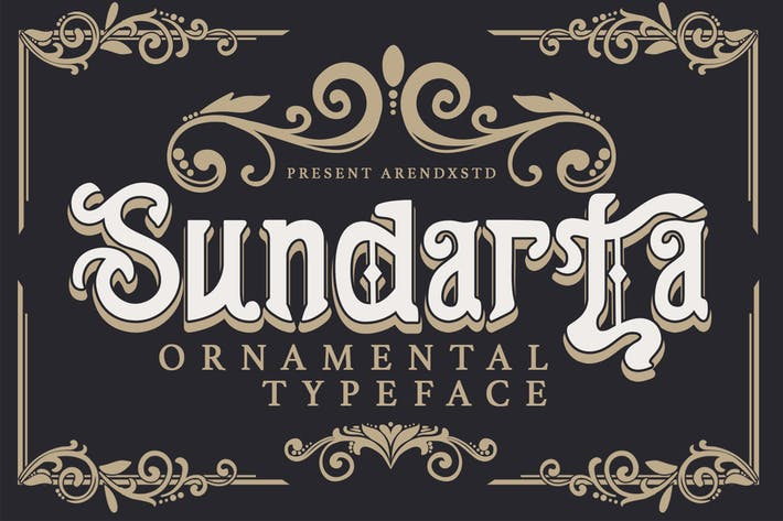Thumbnail for Sundarta | Vintage Typeface