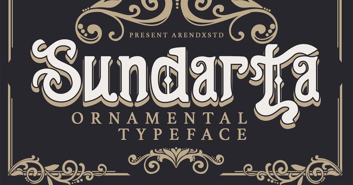 Download Sundarta   Vintage Typeface by arendxstudio