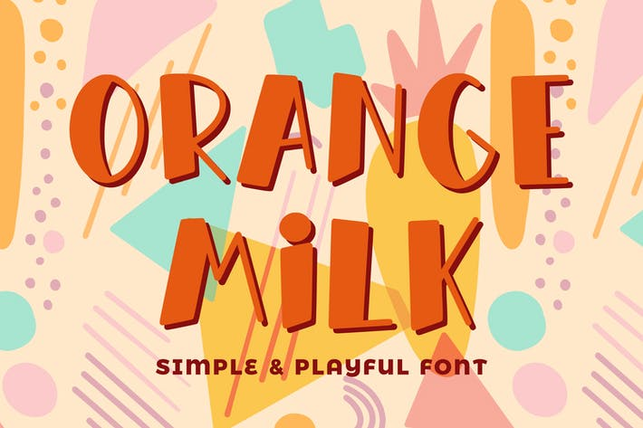 Thumbnail for Orange Milk- Simple & Playful Font