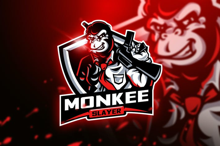 Thumbnail for Monkee Slayer - Mascot & Esport Logo