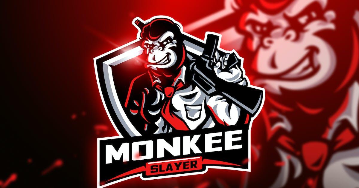 Download Monkee Slayer - Mascot & Esport Logo by aqrstudio
