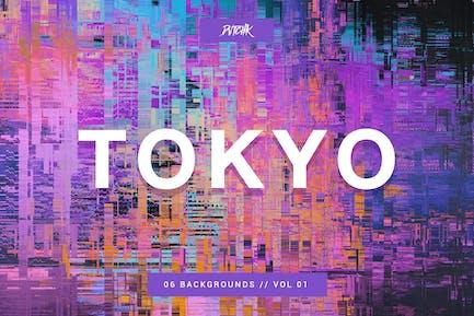 Tokyo| City Glitch Backgrounds | Vol. 01