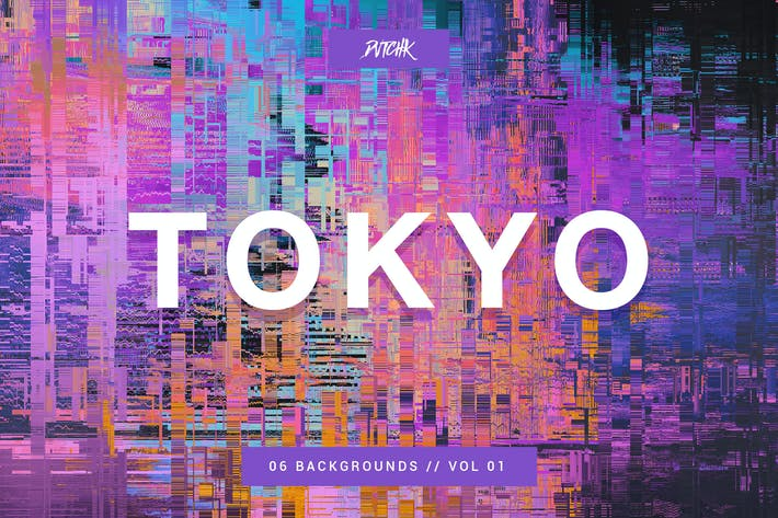 Thumbnail for Tokyo| City Glitch Backgrounds | Vol. 01