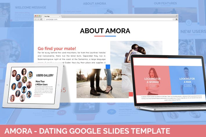 Thumbnail for Amora - Dating Google Slides Template