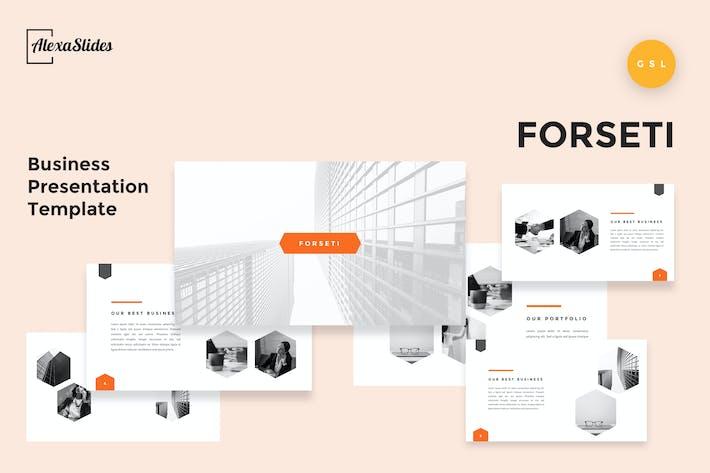 Thumbnail for Forseti - Business Google Slides Template