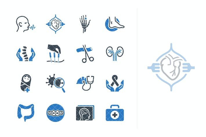 Thumbnail for Medical Services & Specialties Icons - Set 4