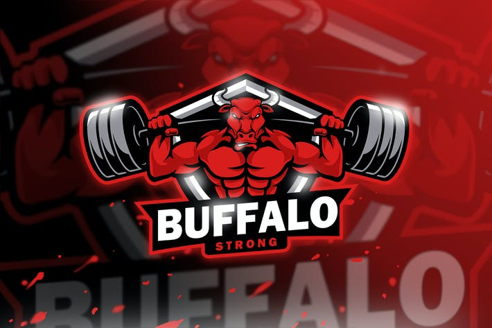 Buffalo Strong - Mascot & Esport Logo