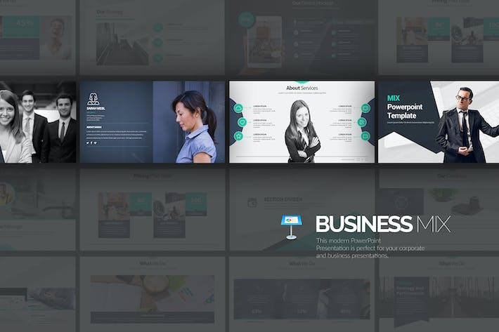 Thumbnail for Business Mix Keynote Template