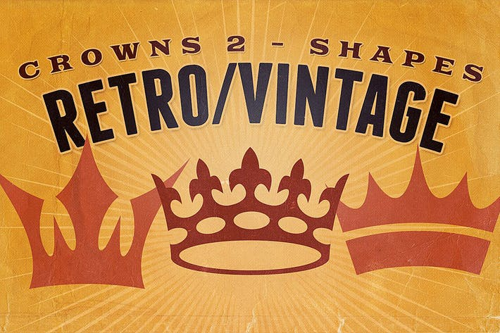 Thumbnail for Retro/Vintage shapes - Crowns 2