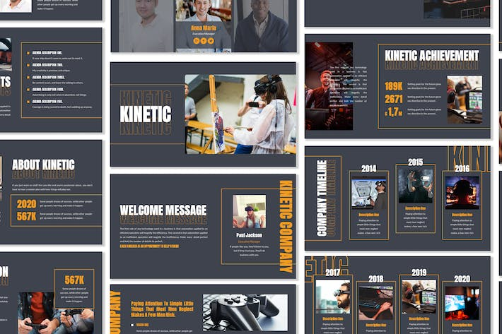Thumbnail for Kinetic - Business Template Presentation