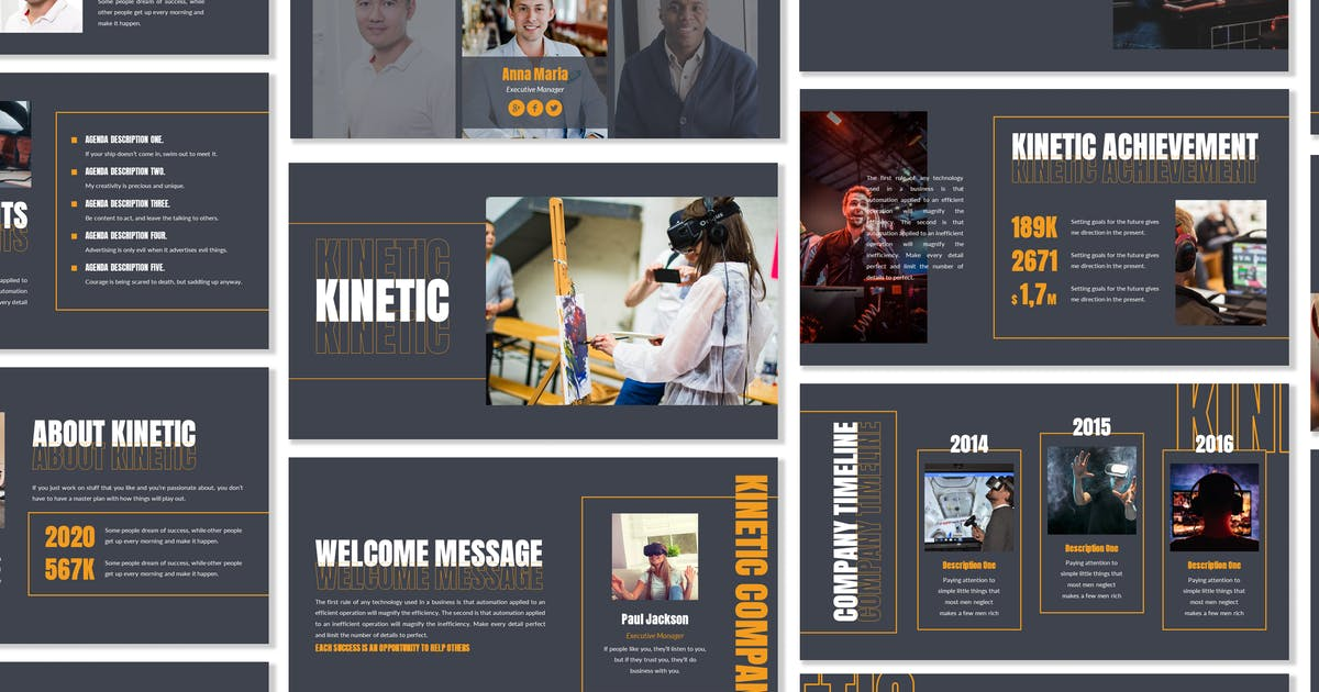 Download Kinetic - Business Template Presentation by Blesstudio